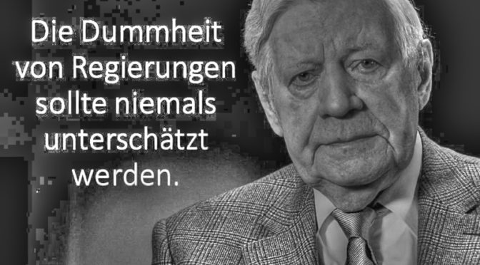 Helmut Schmidt zur Politik